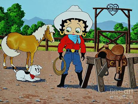 Betty Boop Cowgirl by Thomas Kolendra