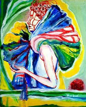 Between Lady And Flower by Pattarapong Uea-amonvanish