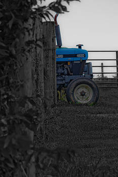 Big Blue Tractor by Kris Napier