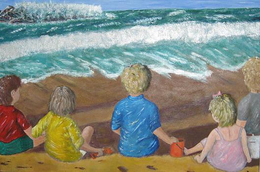 Big Wave at Maui by Ernie Goldberg