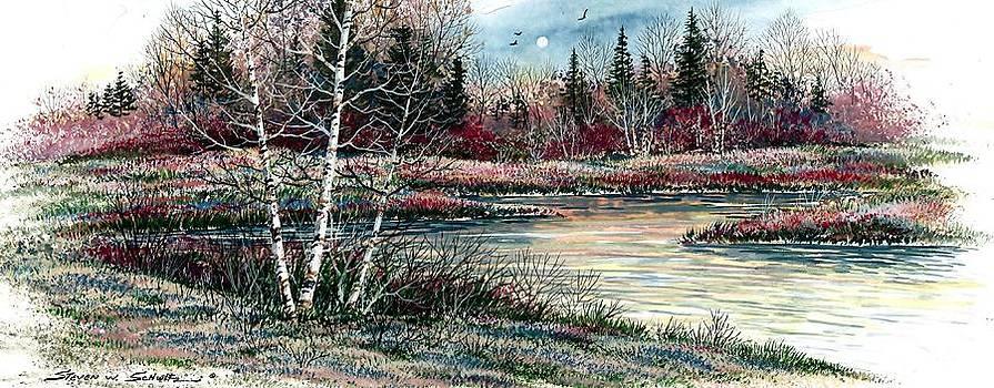 Birch Lake by Steven W Schultz