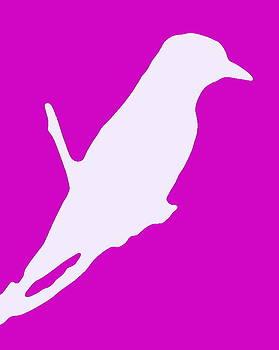 Ramona Johnston - Bird Silhouette Pink White