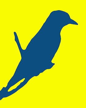 Ramona Johnston - Bird Silhouette Yellow Blue