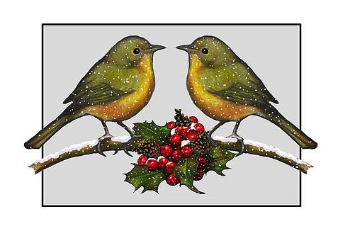 Joyce Geleynse - Birdies At Christmas Time