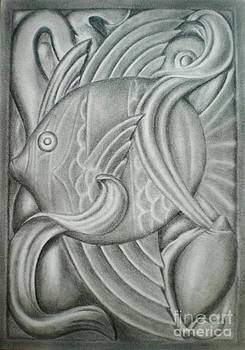 Black and white fish by Paula L