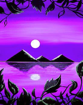Black Pyramids On Nile 2 by Steve Farr