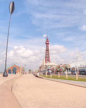 Blackpool Tower and Oar by Sarah Couzens