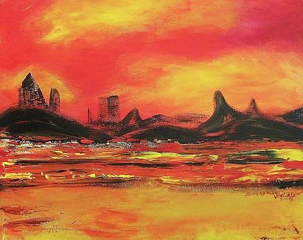Suzanne  Marie Leclair - Blazing Landscape