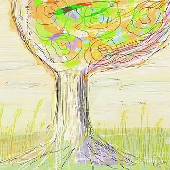 Blooming Tree in Sunset by MURUMURU By FP