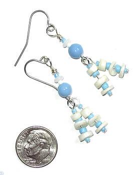 Blue and White Dot Earrings by Elizabeth Carrozza