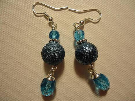 Blue Ball Sparkle Earrings by Jenna Green