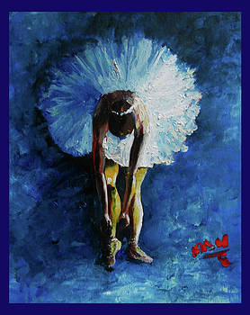 Blue ballerina by Nicu Alina