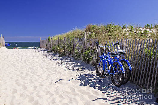 Blue Beach Bikes by Kelly S Andrews