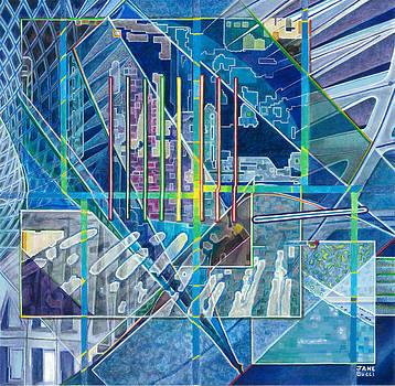 Blue City Day by Jane Bucci