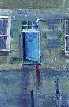 Blue Door  Wick  Scotland by Sheila Wedegis