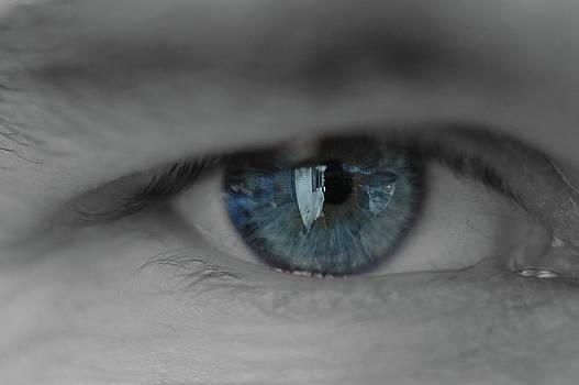Blue Eye Reflections by Rafael Figueroa