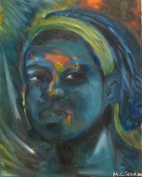 Blue Face by Carmel Joseph