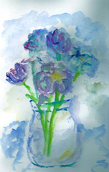 Blue Floral by Bettye  Harwell