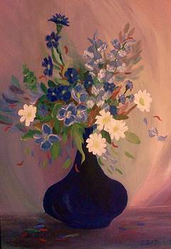 Blue Flowers 2 by Christy Saunders Church