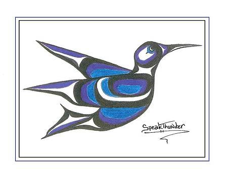 Blue Humming Bird by Speakthunder Berry