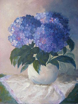 Blue Hydrangeas by Candace Doub