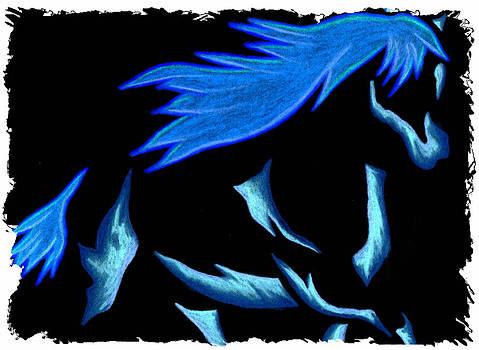 Blue Ice Flows Over Adobe Dance by Mark Schutter