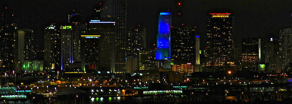 blue light tower Miami by Ronald  Bell