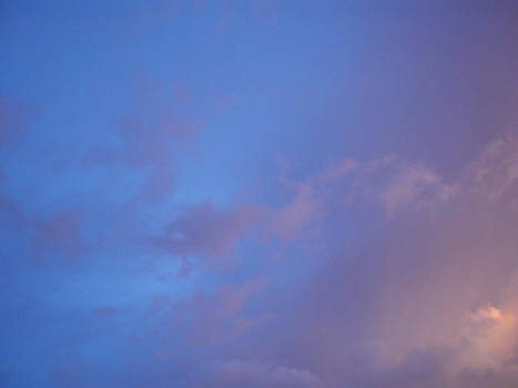 Blue Pink Sky by Alexandra Masson