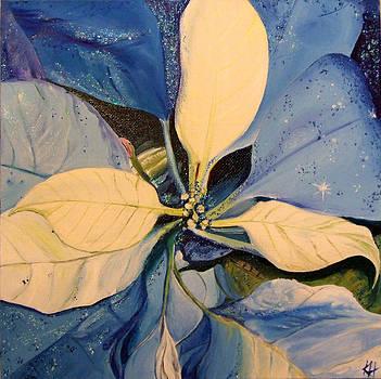 Blue Poinsetta by Karen Hurst