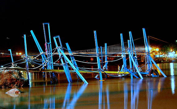 Blue Reflections by Blue Curtain