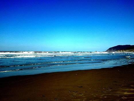 Blue Sky Beach by J Von Ryan