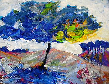 Blue Tree by Mary Schiros
