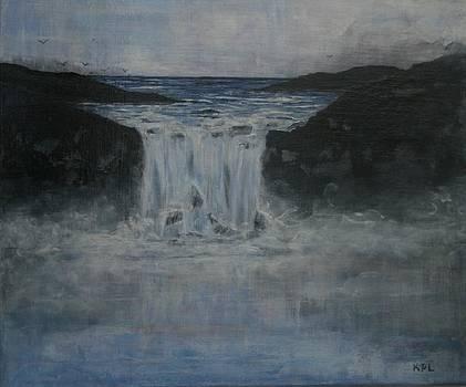 Kathy Peltomaa Lewis - Blue Waterfalls