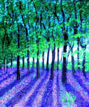 Bluebells forest for my cousin by Marie-Line Vasseur