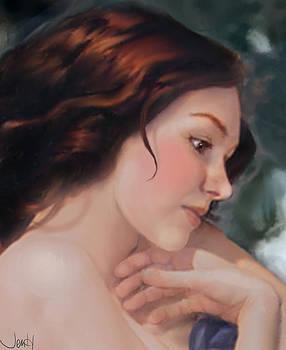 Blushing Rose by Jennifer Hickey