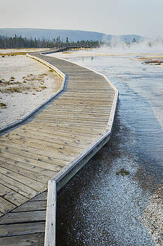 Boardwalk Over The Hot Springs Of The by Alan Majchrowicz
