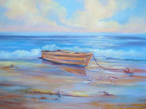 Boat Ashore by Holly LaDue Ulrich