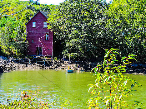 Boat House in Maine by Gordon H Rohrbaugh Jr