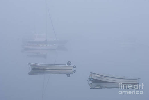 Boats in fog by Jim Wright