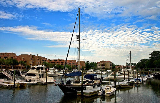 Boats in the Harbor by Susan Leggett