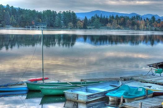 Boats on a Lake by Nilanjan Chaks