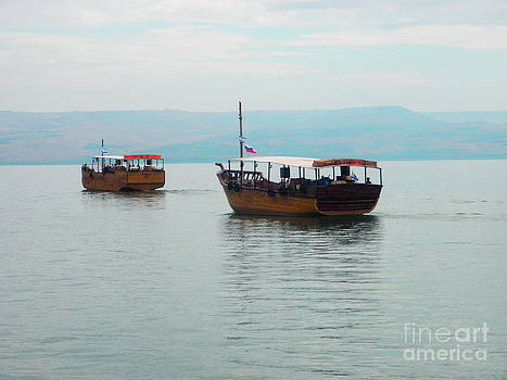Boats on the Sea of Galilee by Robin Coaker