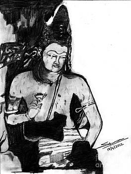 Bodhisatva Ajantha Cave Painting by Shashi Kumar