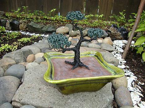 Bonsai Tree Green Medium by Scott Faucett