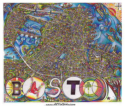 Boston Art Map by Jonathan 'DiNo' DiNapoli