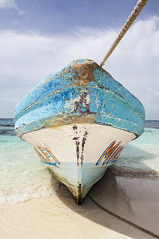 Bow Prow Of Fishing Boat On Beach by Bryan Mullennix