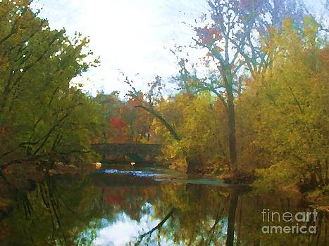 Bridge Over East Branch Creek by Denise Dempsey Kane