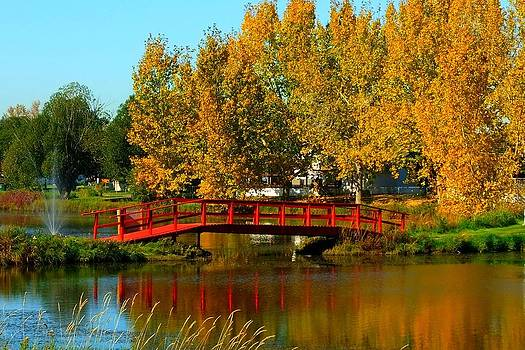 Bridge Over Placid Waters by Rose Szautner