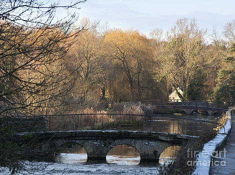 Bridges over River Coln by Andrew  Michael