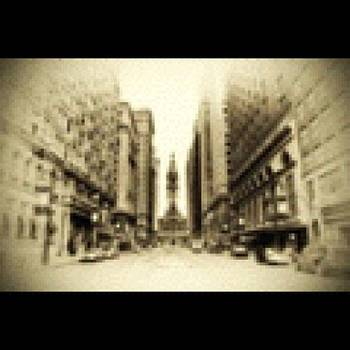 Broad Street In Sepia by Bill Cannon